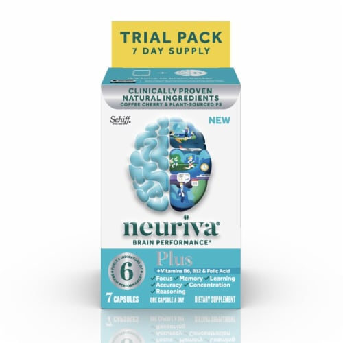 Neuriva Brain Performance Plus Capsules 7 Count Perspective: front