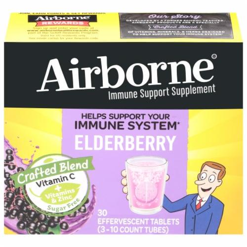 Airborne® Elderberry Effervescent Tablets Perspective: front
