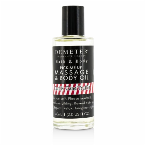 Demeter Candy Cane Truffle Massage & Body Oil 60ml/2oz Perspective: front