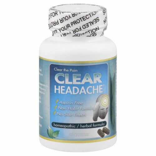 Clear Headache Herbal Capsules Perspective: front
