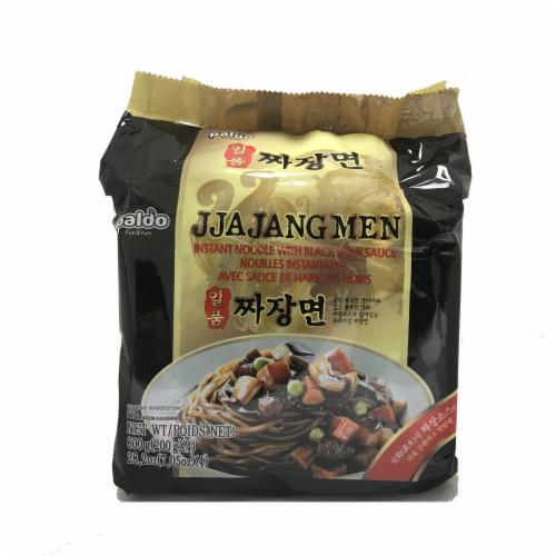 Paldo Jjajangmen Chajang Noodles 4 Count Perspective: front