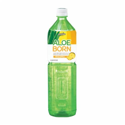 Paldo Aloe Born Pineapple Aloe Vera Drink Perspective: front