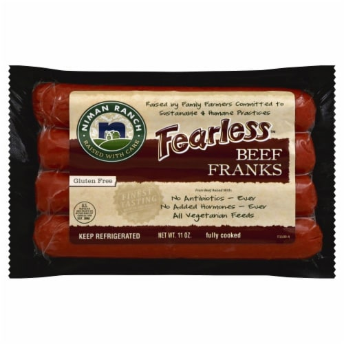 Niman Ranch Fearless Beef Franks Perspective: front