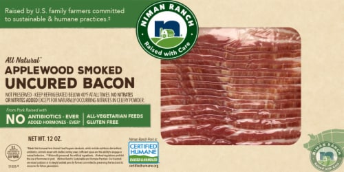 Niman Ranch Applewood Smoked Sliced Bacon Perspective: front