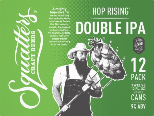 Squatters Hop Rising Double IPA Perspective: front