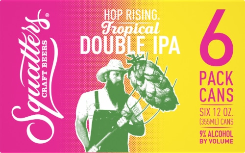 Squatters Hop Rising Tropical Double IPA Perspective: front