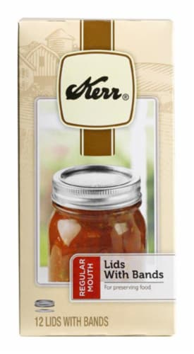 Kerr® Regular Lids with Bands Perspective: front