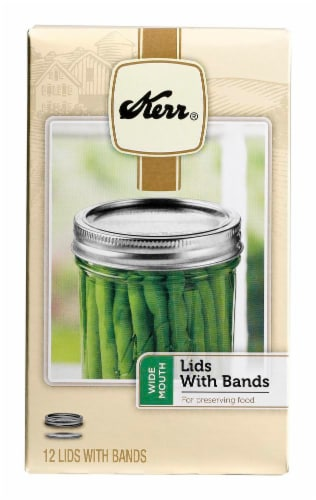 Kerr® Wide Mouth Lids with Bands Perspective: front