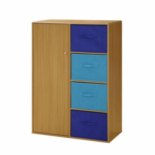 4D Concepts Jason Wooden Boy's Storage Bin Armoire in Beech Perspective: front