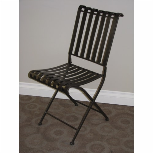 Rounded Metal Folding Chair (2 per box) Perspective: front