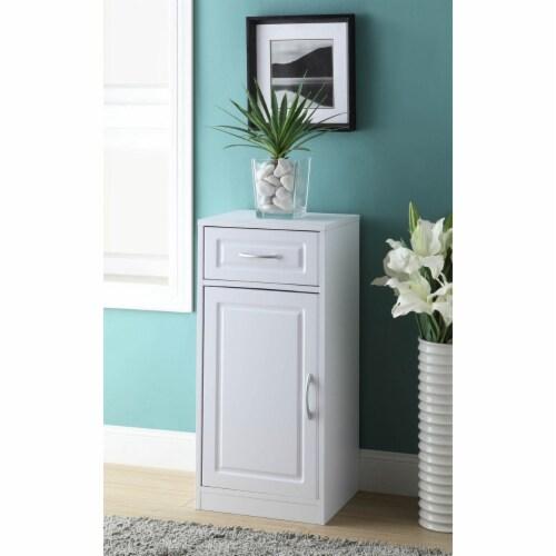 Bathroom 1 door/1 drawer base cabinet Perspective: front