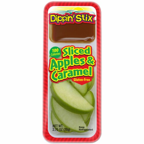 Dippin' Stix Sliced Apples & Caramel Perspective: front