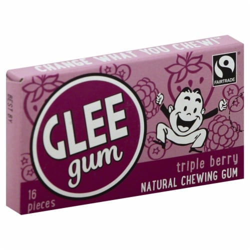 Glee Gum Triple Berry Perspective: front