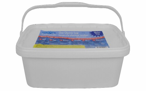 Life/Party Soap Base Glycerin 10lb Clear Perspective: front