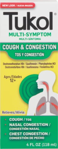 Tukol Adult Extra Strength Multi Symptom Cold Medicine Perspective: front