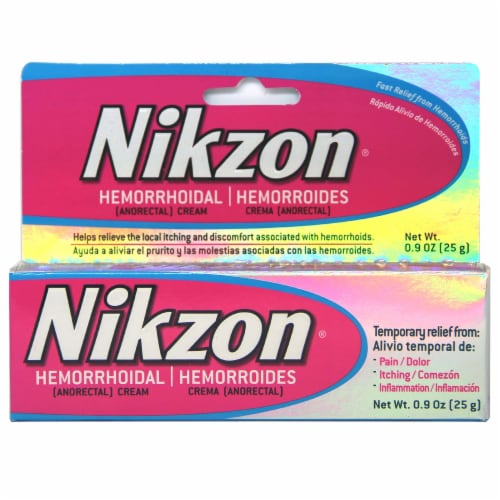 Nikzon Hemorrhoidal Pain Relief Cream Perspective: front