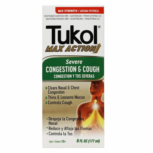 Tukol Max Strength Severe Congestion & Cough Medicine Perspective: front