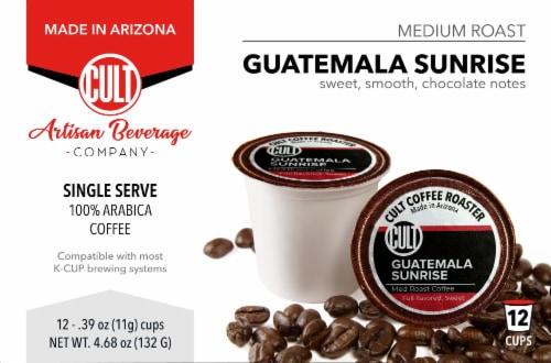 Cult Guatemala Sunrise Single Serve Coffee Cups Perspective: front