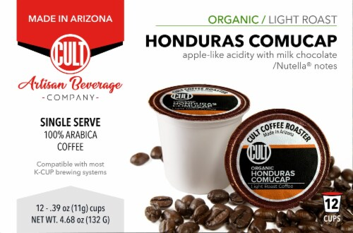 CULT Organic Honduras Comucap Single Serve Coffee Cups Perspective: front