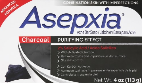 Aspexia Charcoal Acne Bar Soap Perspective: front