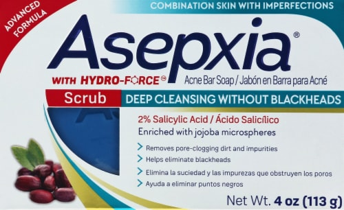 Asepxia Acne Bar Soap with Hydro-Force Perspective: front