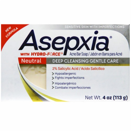 Asepxia Deep Cleansing Gentle Care Acne Bar Soap Perspective: front