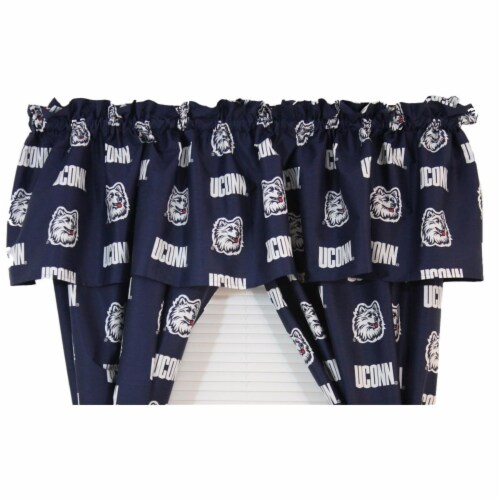College Covers CONCVL 84 x 15 in. Connecticut Huskies Printed Curtain Valance Perspective: front