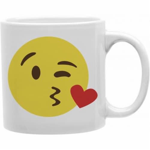Imaginarium Goods CMG11-IGC-KISSY Kissy Emoji 11 oz Ceramic Coffee Mug Perspective: front