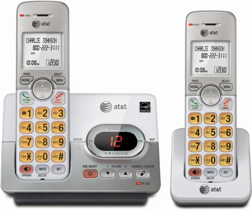 VTech® AT&T 2 Handset Cordless Answering System Perspective: front