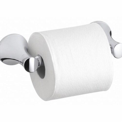 Kohler Toilet Paper Holder,(1) Roll,Brushed Perspective: front