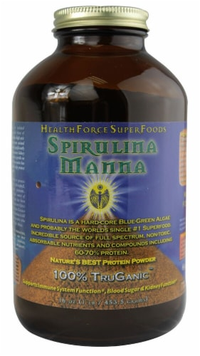 HealthForce Superfoods Spirulina Manna Protein Powder Perspective: front