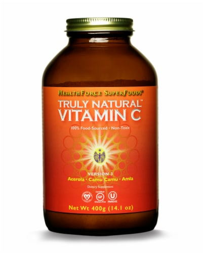 HealthForce Superfoods Truly Natural Vitamin C Dietary Supplement Perspective: front