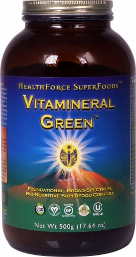 HealthForce Superfoods  Vitamineral Green™ Powder Perspective: front