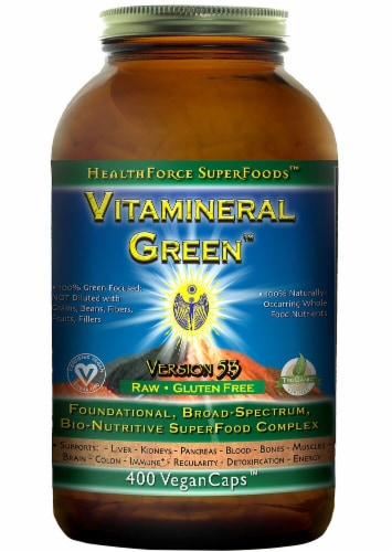 HealthForce Superfoods  Vitamineral Green™ Version 5.5 Perspective: front