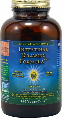 HealthForce Superfoods  Intestinal Drawing Formula™ Perspective: front