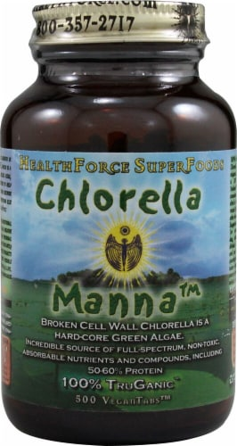 HealthForce Superfoods  Chlorella Manna™ Perspective: front