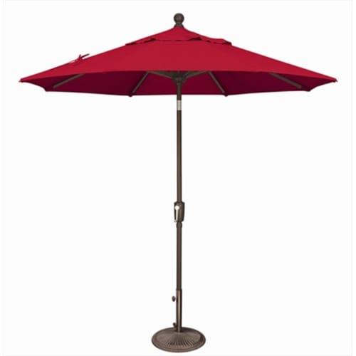 SimplyShade 7.5 ft. Octagon Push Button Tilt Market Umbrella  Jockey Red Perspective: front