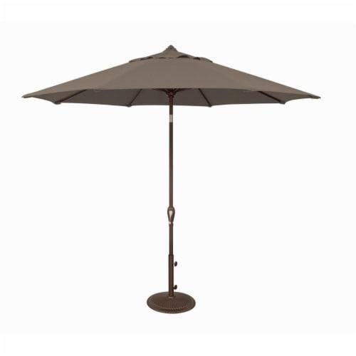 SimplyShade SSUM91-0900-D3474 9 ft. Aruba Octagon Auto Tilt Market Solefin Umbrella, 3474 Tau Perspective: front