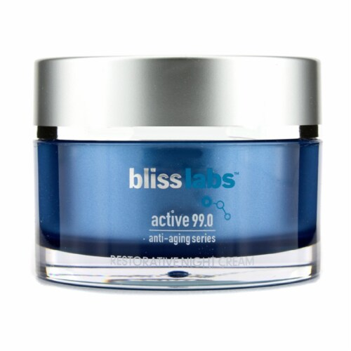 Bliss Active 99.0 AntiAging Series Restorative Night Cream 1.7 oz Perspective: front