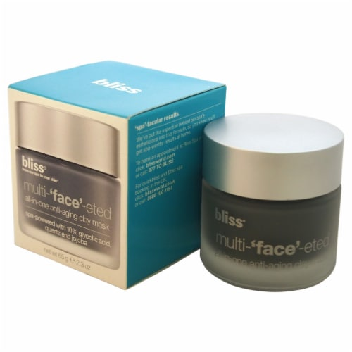 Bliss MultiFaceeted AllInOne AntiAging Clay Mask 2.3 oz Perspective: front