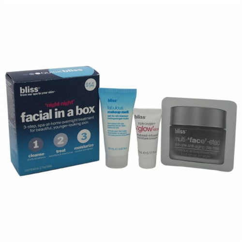 Bliss Night Night Facial In A Box Perspective: front