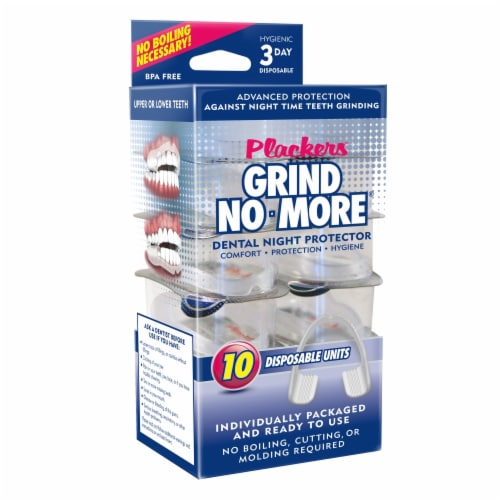 Plackers Grind No More Disposable Dental Night Protectors Perspective: front