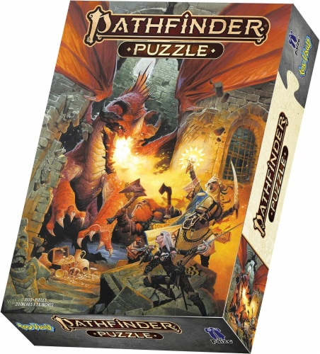 Toy Vault Pathfinder Game Puzzle: Core Rulebook, 20 X 26 Inches 1000-piece Puzzle Perspective: front