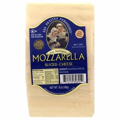 Les Petites Fermieres Sliced Mozzarella Perspective: front