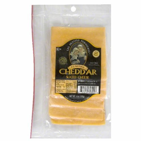 Les Petites Fermieres Sliced Mild Cheddar Cheese Perspective: front