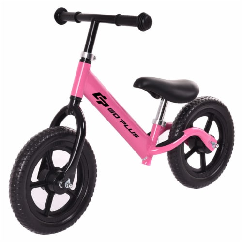 Goplus 12'' Balance Bike Classic Kids No-Pedal Learn To Ride Pre Bike w/ Adjustable Seat Perspective: front