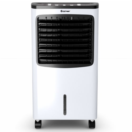 Costway Portable  Cooler Fan Filter Humidify Anion W/ Remote Control Perspective: front