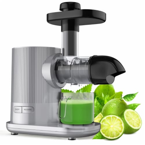 Gymax Horizontal Juicer Machine Cold Press Slow Masticating Juice Extractor Perspective: front