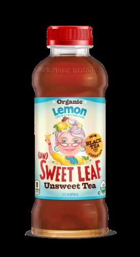 Sweet Leaf Organic Lemon Unsweet Black Tea Perspective: front