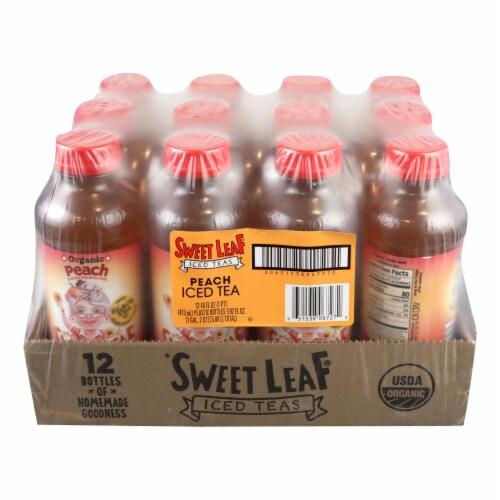 Sweet Leaf Tea Black Iced Tea - Peach - Case of 12 - 16 Fl oz. Perspective: front
